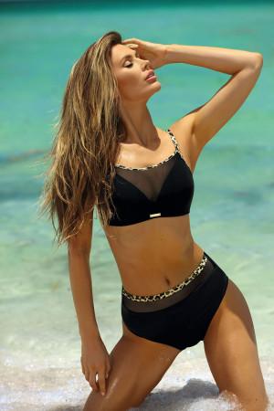 Dvoudílné dámské plavky Self S 1080 PV černá-zlatá