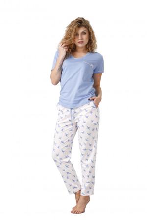 Dámské pyžamo ASTRID 1022 modrá 2XL