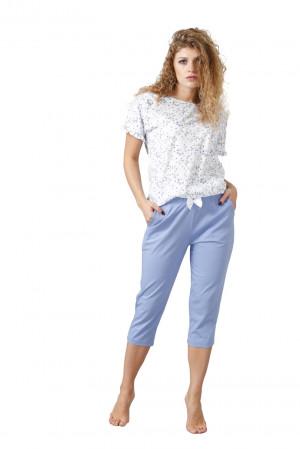 Dámské pyžamo KIORA 1025 bílá/modrá 2XL
