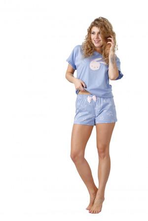 Dámské pyžamo DARETTA 1017 modrá