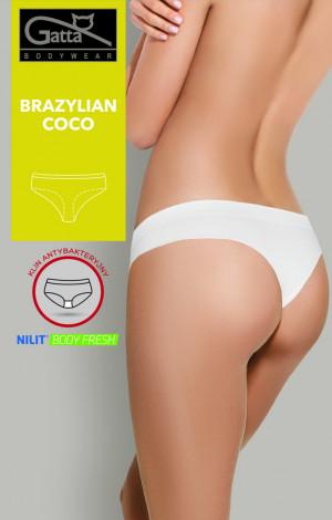 Dámské kalhotky brazilky COCO - Gatta  bílá
