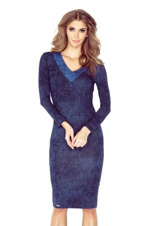 Dámské šaty 020-1 - MORIMIA džínová