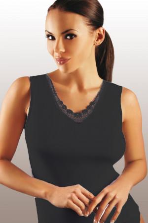 Dámská košilka Majka plus black - EMILI černá