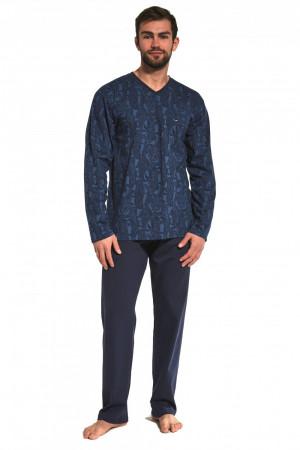 Pánské pyžamo 310/173 Victor - CORNETTE tmavě modrá