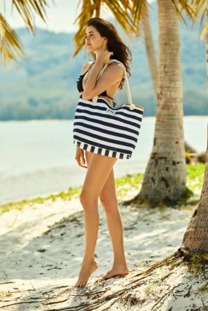 Plážová taška Ladies 38131-99x černobílá - Henderson černo-bílá one size