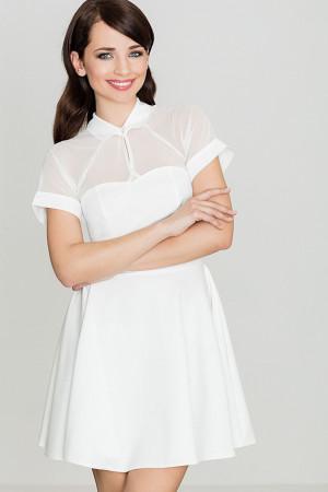 Krátké šaty K399 - Katrus ecri(krémová)