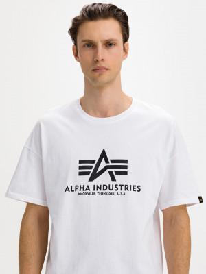 Basic Triko Alpha Industries Bílá