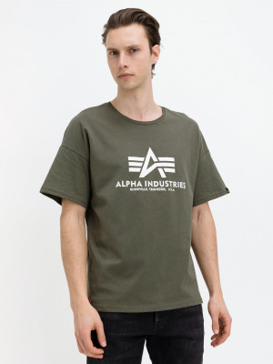 Basic Triko Alpha Industries Zelená
