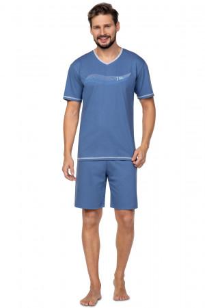 Pánské pyžamo Regina 580 kr/r 2XL  tmavě modrá