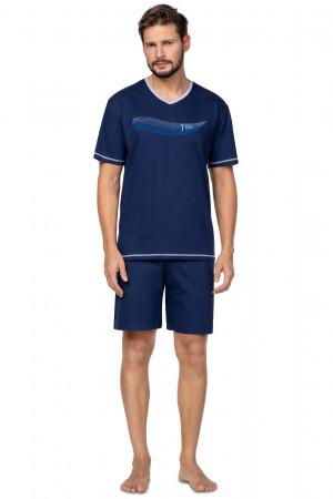 Pánské pyžamo Regina 580 kr/r M-XL  tmavě modrá
