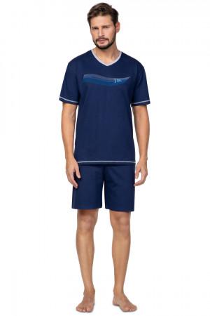 Pánské pyžamo 580  tmavě modrá