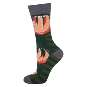 Pánské ponožky SOXO GOOD STUFF - Lenochodi  zelená/oranžová 35–40