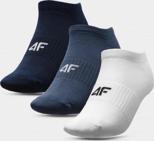 Pánské ponožky (3 páry) 4F SOM301 Bílé ... Bílá 39-42