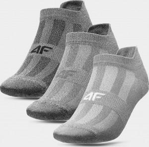 Pánské sportovní ponožky  (3 páry) 4F SOM213 Šedé... Šedá 43-46