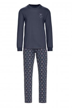 Pánské pyžamo 13690 - Vamp tm.šedá-vzor