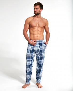 Pánské pyžamové kalhoty Cornette 691/27 652202 modro-šedá/karo