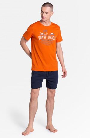 Pánské pyžamo Henderson Core 38867 Led kr/r M-2XL oranžová