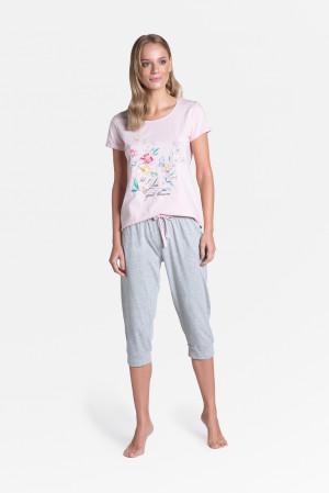 Dámské pyžamo Henderson Ladies 38889 Tamia kr/r S-2XL pastelově růžová