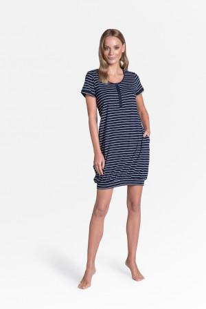 Dámská noční košile Henderson Ladies 38899 Tickle kr/r S-XL navy