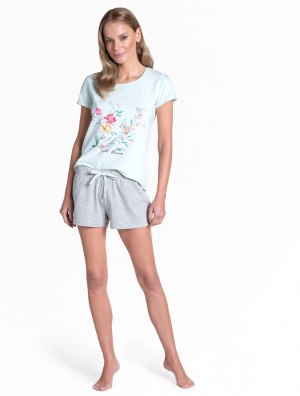 Dámské pyžamo Henderson Ladies 38888 Tamia kr/r S-XL light turquoise