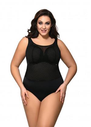 Jednodílné dámské plavky full cup Ava SKJ 39 Maxi černá