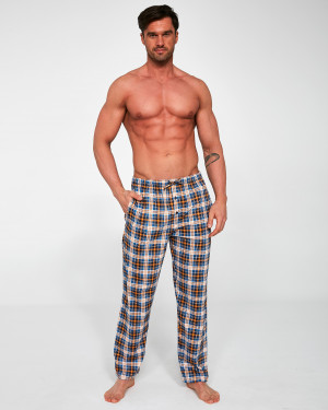 Pánské pyžamové kalhoty Cornette 691/30 662402  jeans-musztardowy