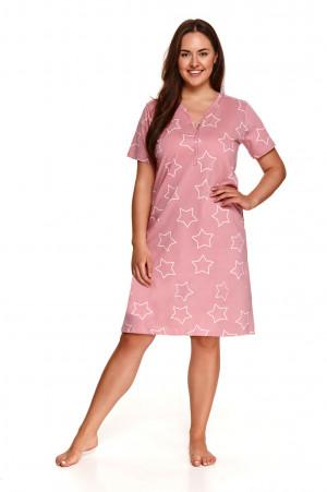 Dámská noční košile Taro Oksa 2509 kr/r 2XL-3XL L'21 pudrově růžová