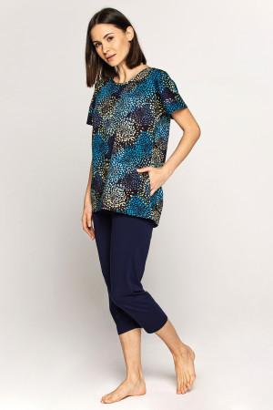 Dámské pyžamo Cana 562 kr/r 2XL tmavě modrá