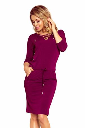 Dámské šaty 230-1 - NUMOCO fialová