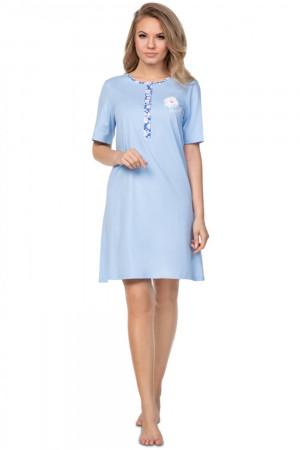 Noční košile 387 blue plus - REGINA světle modrá