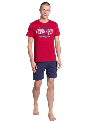 Pánské pyžamo Henderson 38869 XXL Červená