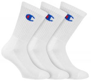 3PACK ponožky Champion bílé (Y08QG) 43-46