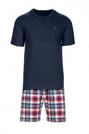 Pánské pyžamo 13716 - Vamp modrá/ káro