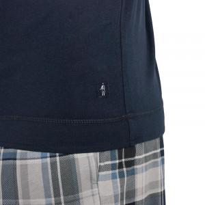 Pánské pyžamo 500001 - 477 - Jockey modrá/ káro