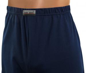 Pánské pyžamo s dlouhými rukávy 2385 - Sesto Senso tm.modrá-béžová