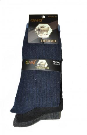 Pánské ponožky GNG 1727 Thermo Wool A'3 - Ulpio  černá 43-46