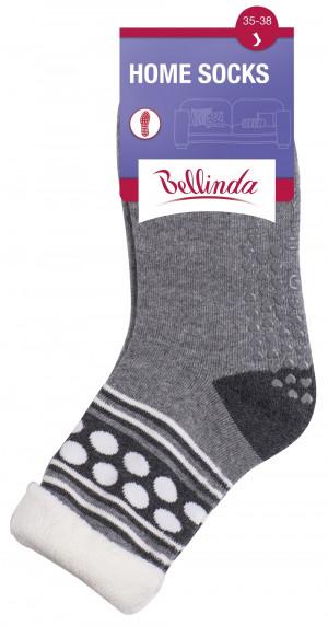 Dámské ponožky HOME SOCKS - Bellinda šedo-růžová 35-38