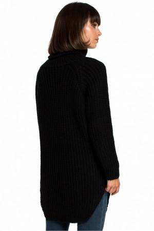 Dlouhý svetr BK005 -  BE Knit  černá uni