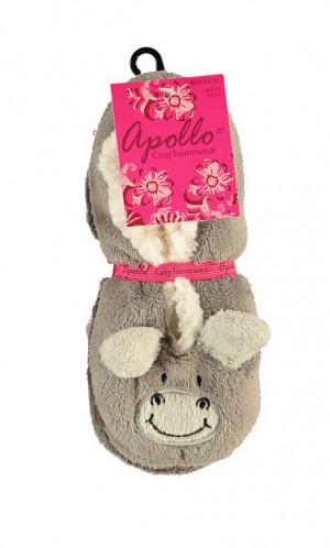 Papuče baleríny Apollo art.33391 Wild 3D Animals - RiSocks  šedá 28/30