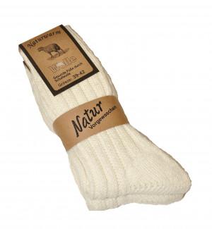 Pánské ponožky Ulpio Naturwarm 51485 A'2 krémová 35-38
