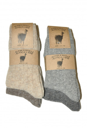 Ponožky Ulpio Alpaka-Wolle 31606 A'2 béžová-hnědá 43-46