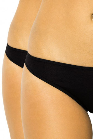2 ks dámské bokové kalhotky 007 černé černá