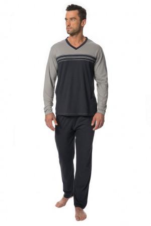 Pánské pyžamo Samuel šedé šedá