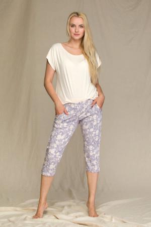 Dámské pyžamo Key LNS 947 2 A21 S-XL brzoskwiniowy-fioletowy