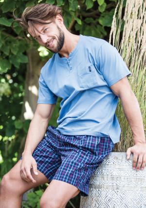 Pánské pyžamo Key MNS 223 A21 3XL-4XL modrá/tmavěmodrá 3XL