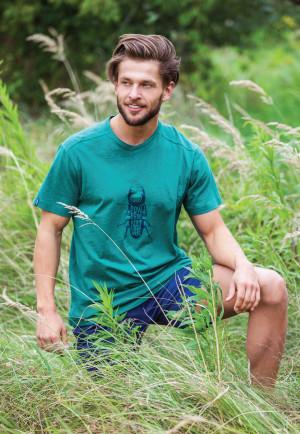 Pánské pyžamo Key MNS 741 1 A21 zelená-tm.modrá