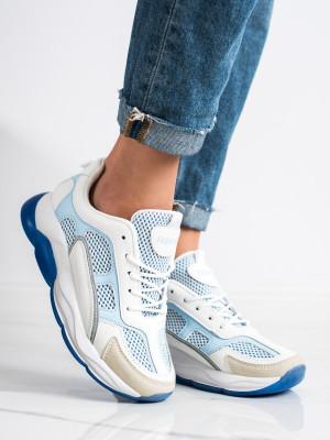 Moderní  tenisky modré dámské bez podpatku