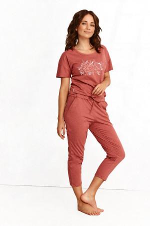 Dámské pyžamo 2164 ALEXA S-XL Jaro 2021 rudá