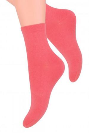 Dámské ponožky 037 coral - Steven korálová 35/37