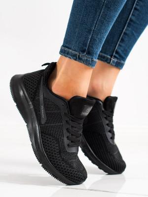 Jedinečné dámské  tenisky černé bez podpatku